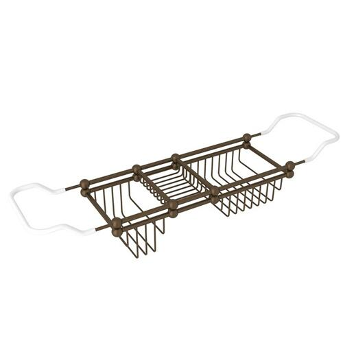 "English Bronze Perrin & Rowe Edwardian 28-32"" Bath Rack"