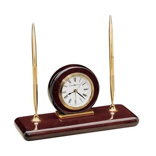 Howard Miller Rosewood Desk Set Table Clock 613588