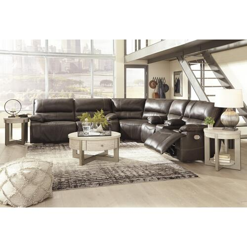 3 Piece Power Leather Reclining Sectional with Adjustable Headrest