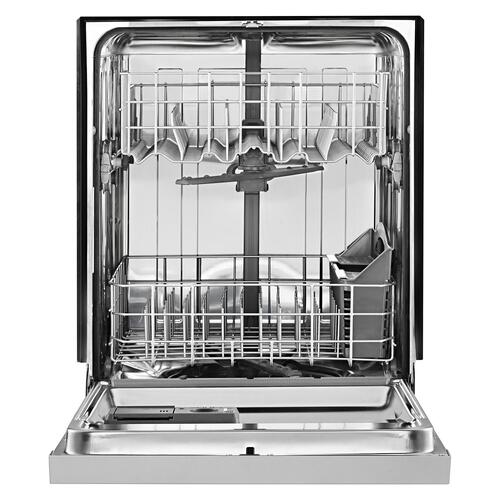 Stainless steel dishwasher with 1-Hour Wash cycle Biscuit