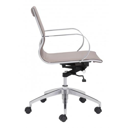 Zuo Modern - Glider Low Back Office Chair Taupe