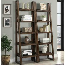 See Details - TEMPE - TOBACCO Pair of Etagere Bookcases
