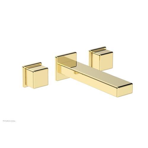 MIX Wall Lavatory Set - Cube Handles 290-14 - Polished Brass
