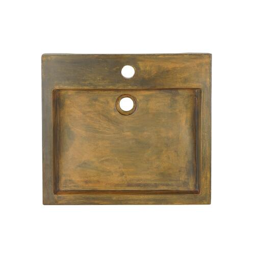 Ewan Rectangular Vessel - Vintage Brown