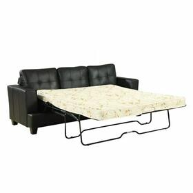 ACME Platinum Sofa w/Queen Sleeper - 15061 - Black Bonded Leather