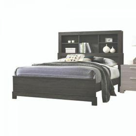 ACME Lantha Eastern King Bed w/Storage - 22027EK - Gray Oak