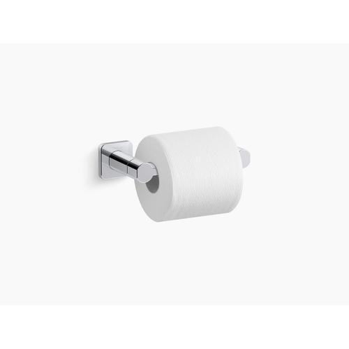 Vibrant Brushed Nickel Pivoting Toilet Paper Holder