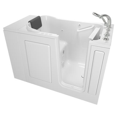 Gelcoat Premium Series 28x48-inch Walk-in Bathtub  Combo Massage Tub  American Standard - White