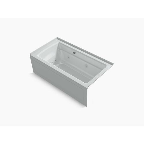 "Ice Grey 60"" X 32"" Integral Apron Whirlpool + Heated Bubblemassage Air Bath With Right-hand Drain"