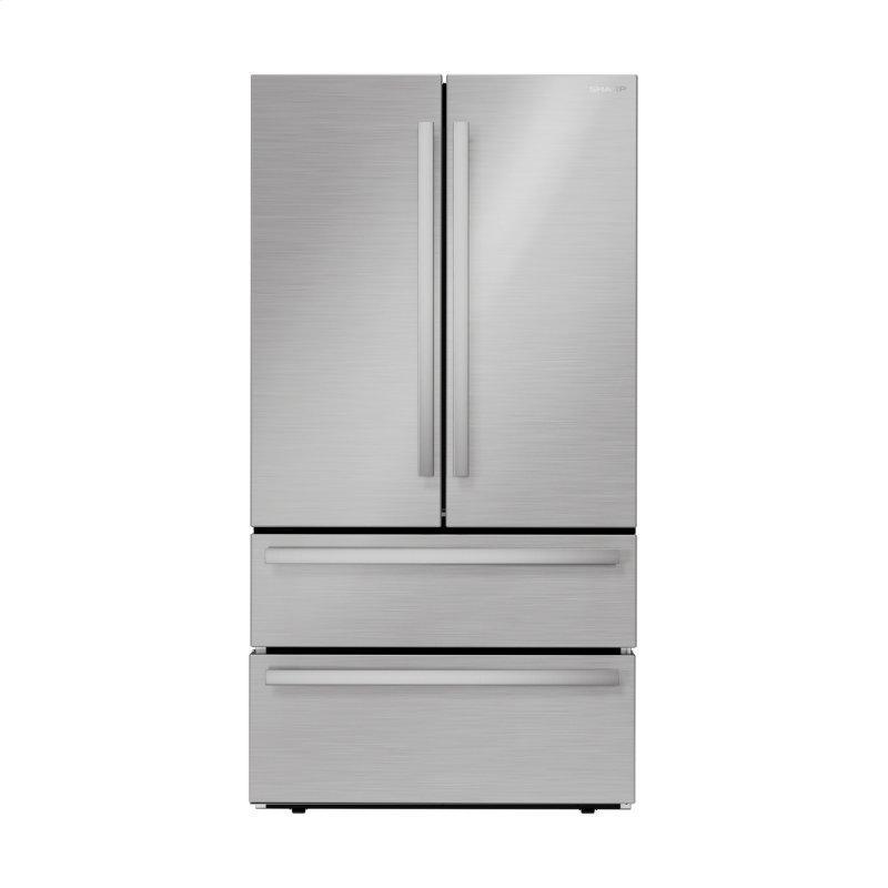 Sharp French 4-Door Counter-Depth Refrigerator