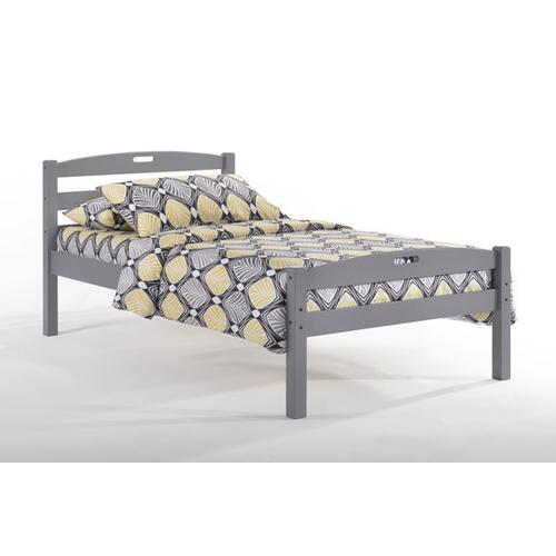 Night and Day Furniture - Sesame Bed in Gray Finish