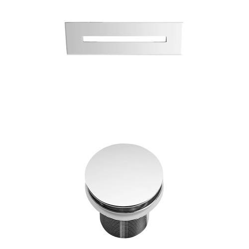 """Siren 64"""" Acrylic Tub with Integral Drain and Overflow - Polished Chrome Drain and Overflow"""