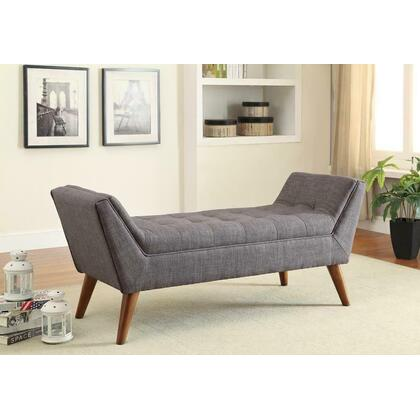 See Details - Grey Mid-century Modern Accent Bench