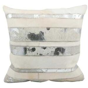 """Natural Leather Hide S1160 White 20"""" X 20"""" Throw Pillow"""