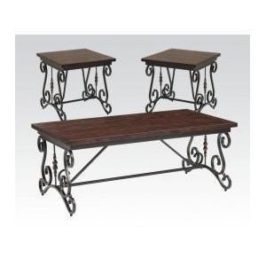 Acme Furniture Inc - 3pc Pk Coffee/end Table Set