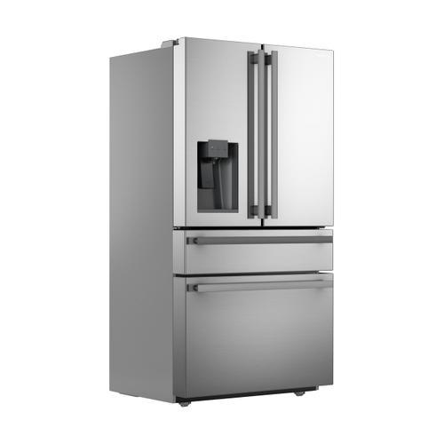 Sharp - Sharp French 4-Door Counter-Depth Refrigerator with Water Dispenser