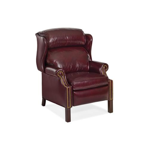 Hancock and Moore - 1021 WOODBRIDGE CHIPPENDALE WING CHAIR RECLINER