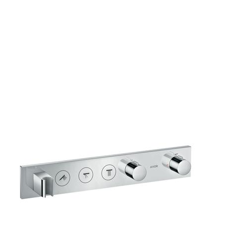 Stainless Steel Optic Thermostatic module Select 530/90 for concealed installation for 3 functions