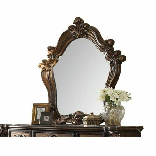 ACME Versailles Mirror - 21104 - Cherry Oak