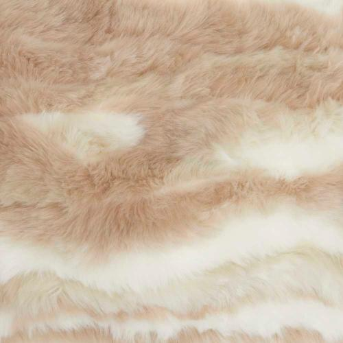 "Faux Fur Vv017 Beige 14"" X 24"" Throw Pillow"