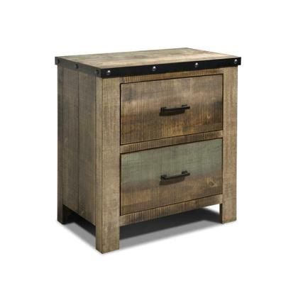 See Details - Sembene Antique, Multi-colored Nightstand