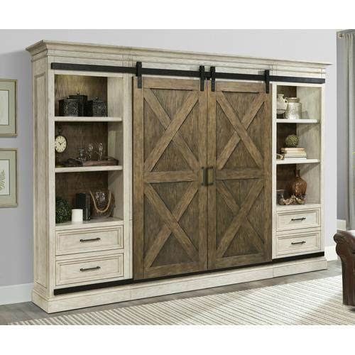 SAVANNAH 5 piece Sliding X Barn Door Entertainment Wall