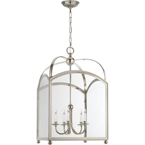 E. F. Chapman Arch Top 5 Light 20 inch Polished Nickel Foyer Pendant Ceiling Light
