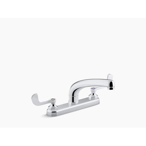 "Polished Chrome 1.5 Gpm Kitchen Sink Faucet With 8-3/16"" Swing Spout, Aerated Flow and Wristblade Handles"