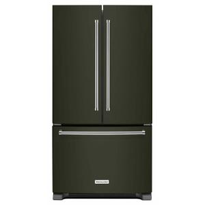 KitchenAid20 cu. ft. 36-Inch Width Counter-Depth French Door Refrigerator with Interior Dispense - Black Stainless Steel with PrintShield™ Finish