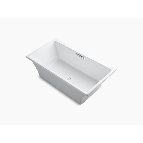 "White 67"" X 36"" Freestanding Bath With Brilliant Blanc Base"