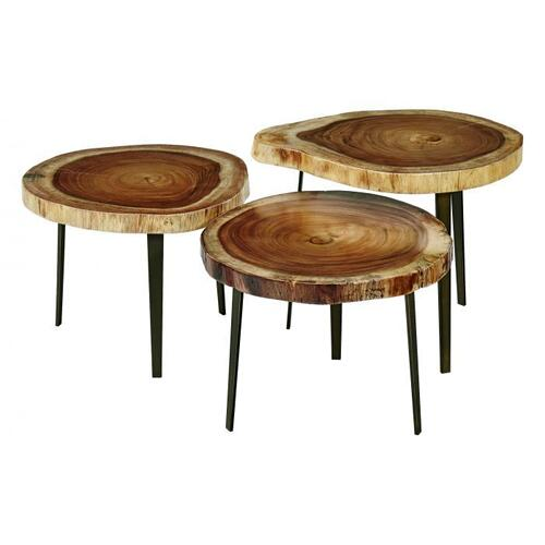"""Fairfield - Natural Guanacaste 22"""" Round Accent Table Top"""