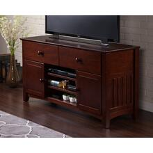 See Details - Mission 2 Drawer 50 inch Entertainment Console with Adjustable Shelves in Walnut