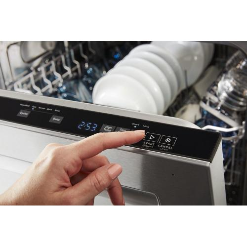 Top control dishwasher with Dual Power Filtration