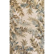 """Sparta 3126 Ivory Tropical Branches 5'6"""" Round"""