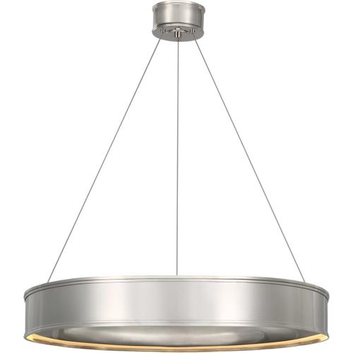 Visual Comfort - Chapman & Myers Connery LED 30 inch Polished Nickel Ring Chandelier Ceiling Light