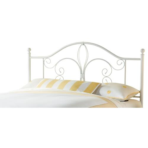 Ruby Full/queen Metal Headboard, Textured White