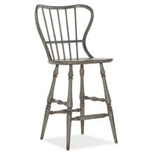 See Details - Ciao Bella Spindle Back Bar Stool-Speckled Gray