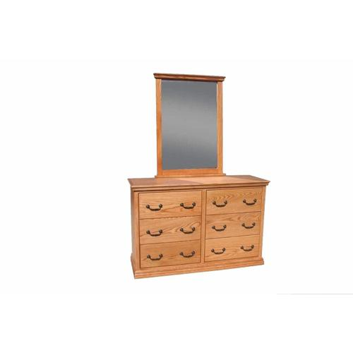 A-T311 Traditional Alder 6-Drawer Youth Bedroom Dresser