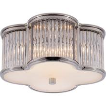 View Product - Alexa Hampton Basil 2 Light 11 inch Polished Nickel with Clear Glass Flush Mount Ceiling Light in Polished Nickel and Crystal