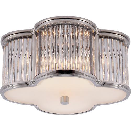 Visual Comfort - Alexa Hampton Basil 2 Light 11 inch Polished Nickel with Clear Glass Flush Mount Ceiling Light in Polished Nickel and Crystal