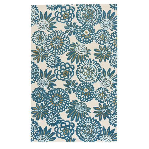 Flower Pop Peacock Hand Tufted Rugs