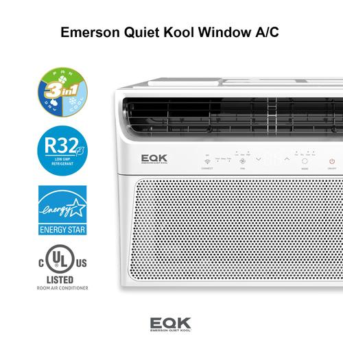 Emerson Quiet Kool SMART Window Air Conditioner,10,000 Btu 115V, With Wifi and Voice Control, Works with Amazon Alexa and Google Home, Energy Star Certified, EBRC10RSE1H