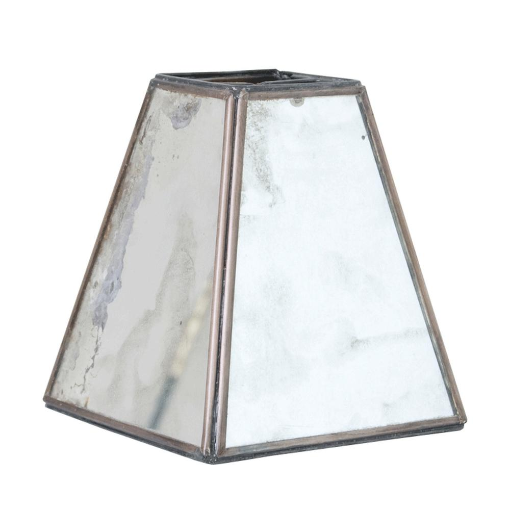 The Ideal Accompaniment for Your Glamorous Style. Antique Mirror Shade With Tapered Square Silhouette.