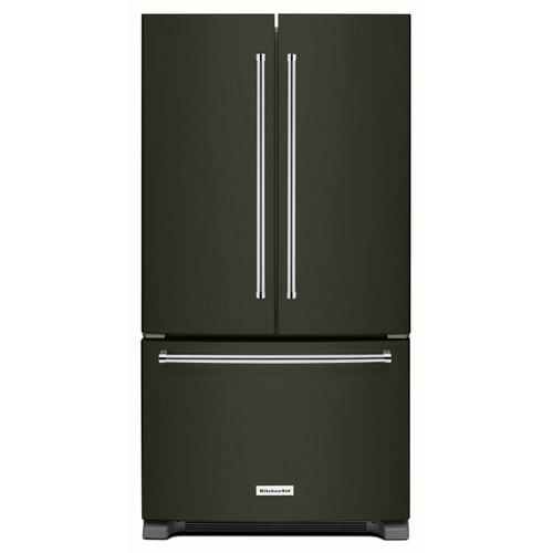 KitchenAid Canada - 20 cu.ft. 36-Inch Width Counter-Depth French Door Refrigerator with Interior Dispense - Black Stainless Steel with PrintShield™ Finish