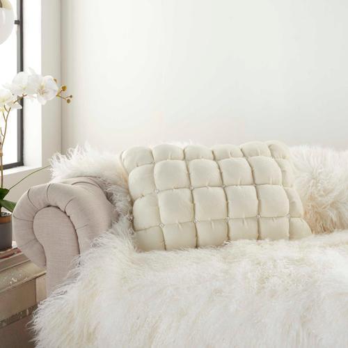 """Sofia Ys104 Ivory 14"""" X 20"""" Throw Pillow"""