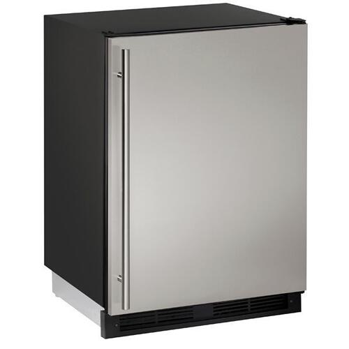 "1224rf 24"" Refrigerator/freezer With Stainless Solid Finish (115 V/60 Hz Volts /60 Hz Hz)"