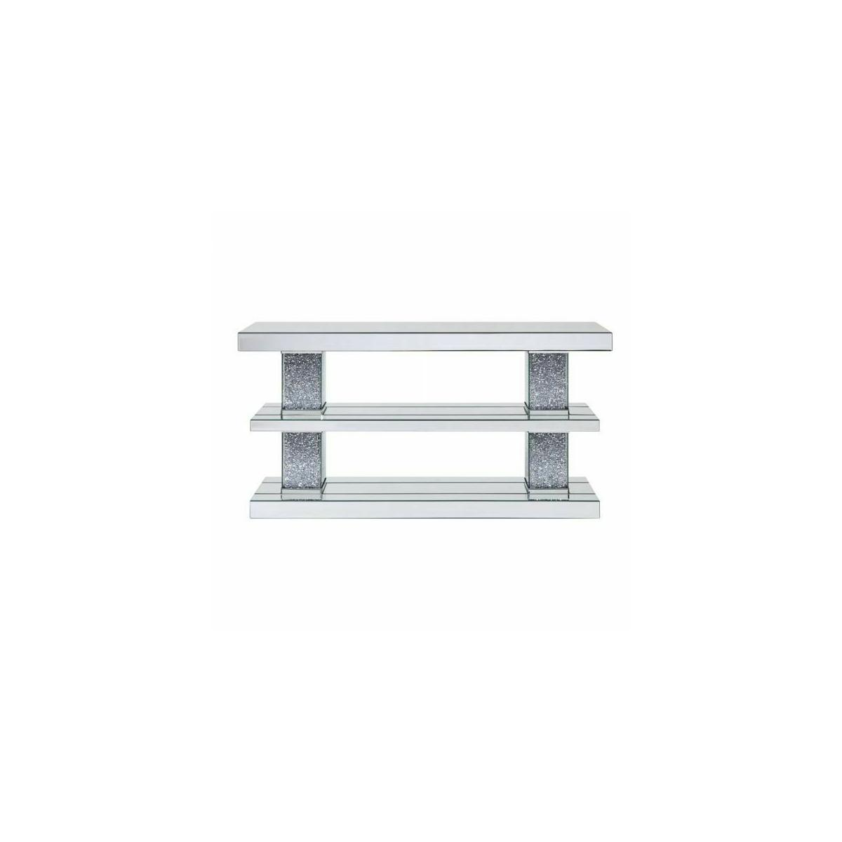 ACME Noralie Console Table - 90462 - Mirrored & Faux Diamonds