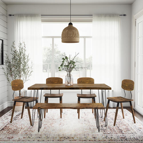 """Nature's Edge 60"""" Dining Table W/(4) Wooden Chairs"""