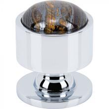 View Product - FireSky Iron Tiger Eye Knob 1 1/8 Inch Polished Chrome Base Polished Chrome