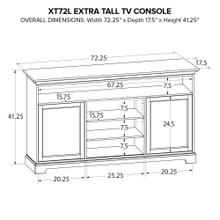 XT72L Extra Tall Custom TV Console